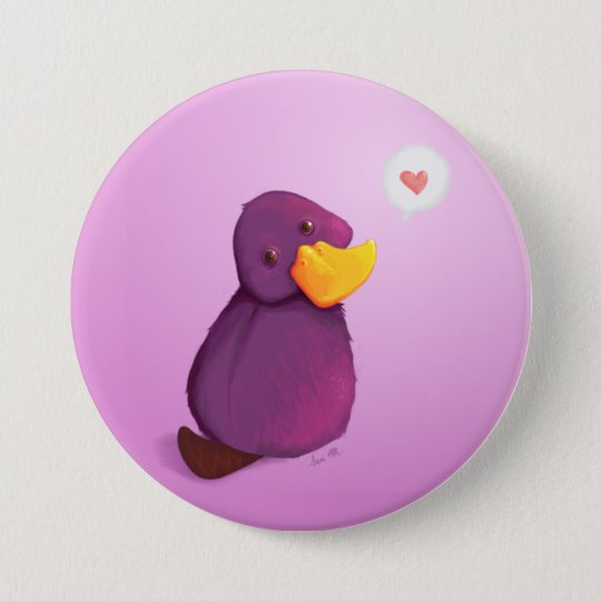 Platy Love 7.5 Cm Round Badge
