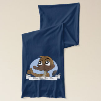 Platypus giving thumbs up cartoon scarf