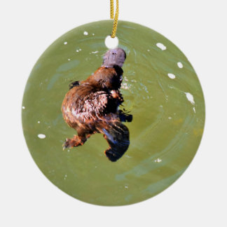 PLATYPUS IN WATER EUNGELLA AUSTRALIA CHRISTMAS ORNAMENT