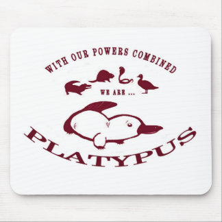 Platypus Mouse Pad - Red