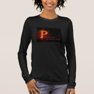Platypus on fire black shirt