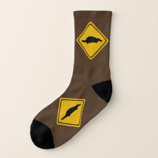 platypus road sign - socks