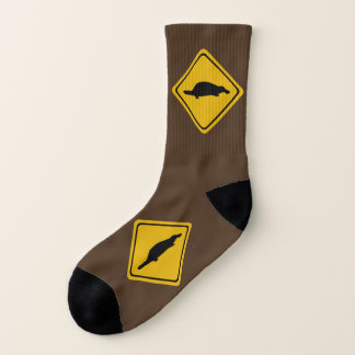 platypus road sign - socks 1