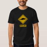 platypus road sign tee shirt