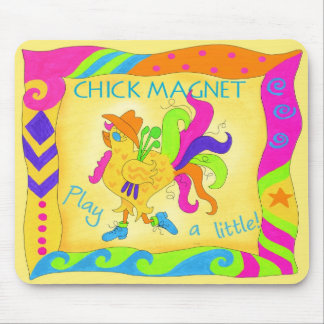 Play A Little Chick Magnet Rooster Mousepad