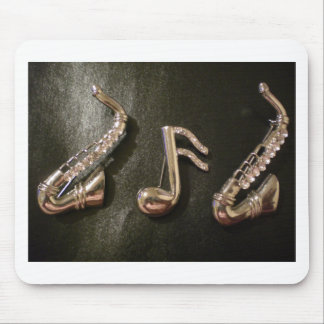 Play a musical note on that Saxaphone Mouse Pad