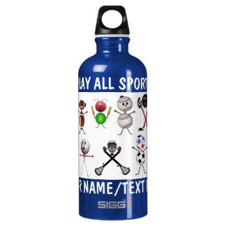 Play All Sports Cartoon Water Bottle