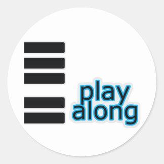 Play Along - Piano Round Sticker