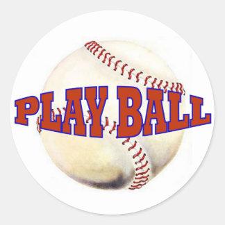 PLAY BALL 2 ROUND STICKER