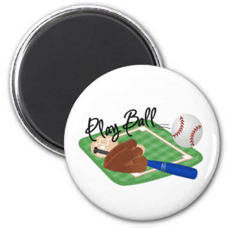 Play Ball 6 Cm Round Magnet