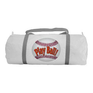 Play Ball! Baseball Gym Bag Gym Duffel Bag