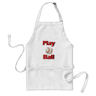 Play Ball Red Standard Apron