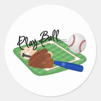 Play Ball Round Sticker