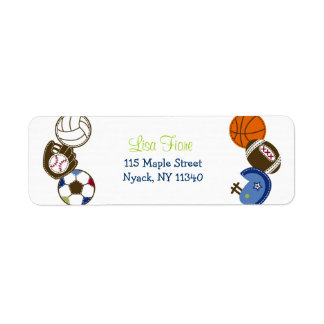 Play Ball Sports Ball Baby Shower Address Labels