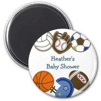 Play Ball Sports Ball Party Favour Magnets