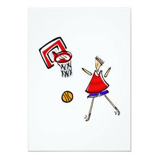 Play Basketball 13 Cm X 18 Cm Invitation Card
