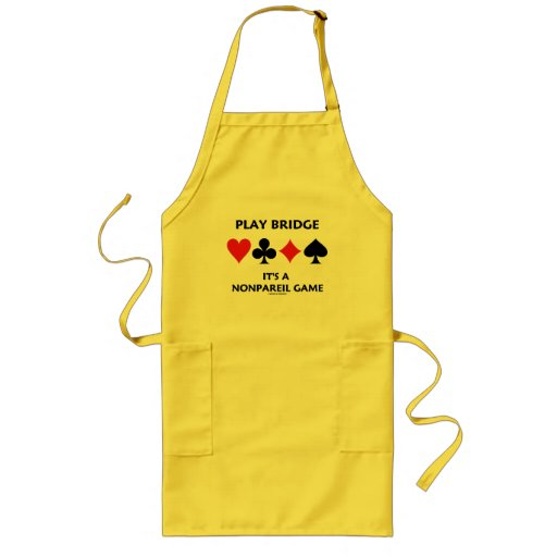Play Bridge It's A Nonpareil Game Four Card Suits Apron