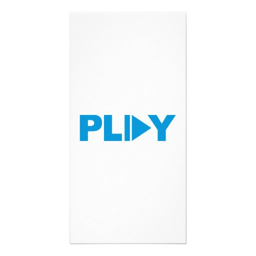 Play button music photo card template