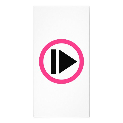Play button music photo greeting card