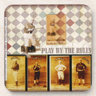 """""""Play by the Rules - baseball"""", 1 plastic coaster"""