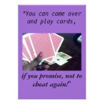 Play cards-Don't cheat, invitations