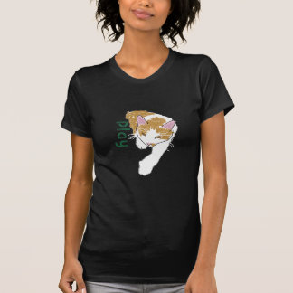 Play cartoon cat t shirt