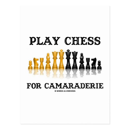 Play Chess For Camaraderie (Reflective Chess Set) Post Cards