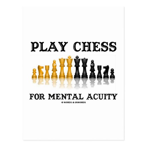 Play Chess For Mental Acuity (Reflective Chess) Post Cards