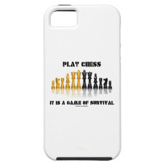 Play Chess It Is A Game Of Survival (Chess Set) iPhone 5 Case