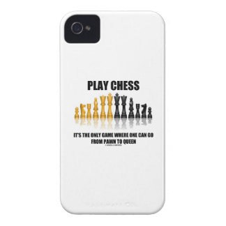 Play Chess It s The Only Game Where Pawn To Queen iPhone 4 Case