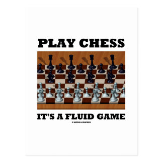 Play Chess It's A Fluid Game (Chess Stereogram) Postcard