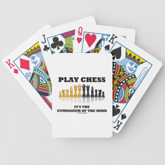 Play Chess It's The Gymnasium Of The Mind Deck Of Cards