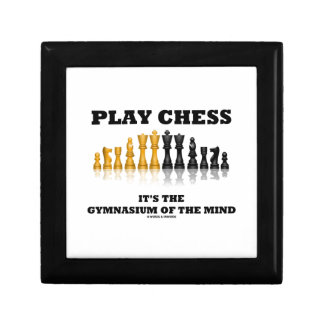 Play Chess It's The Gymnasium Of The Mind Small Square Gift Box