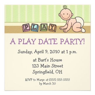 Play Date Party Invitations