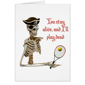 Play Dead Tennis Pirate Card