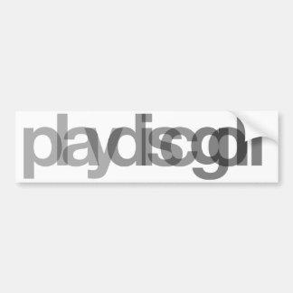 Play Disc Golf Bumper Sticker