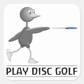 Play Disc Golf Square Sticker
