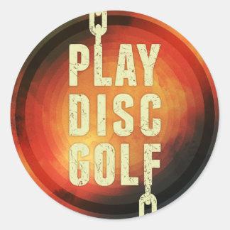 Play Disc Golf Round Stickers