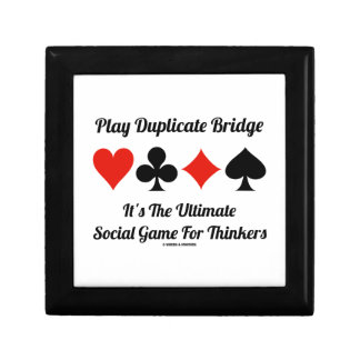 Play Duplicate Bridge It's Ultimate Social Game Small Square Gift Box