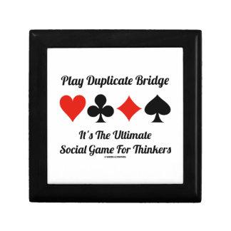 Play Duplicate Bridge It's Ultimate Social Game Small Square Gift Box