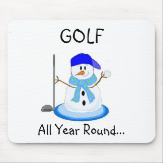 Play Golf All Year Round Mouse Mat