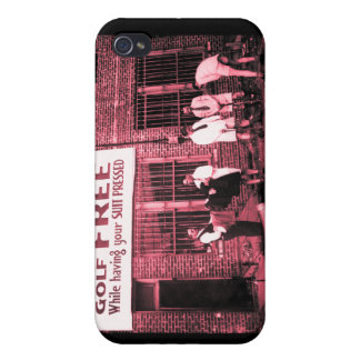 Play Golf Free (While Having Your Suit Pressed) iPhone 4 Case
