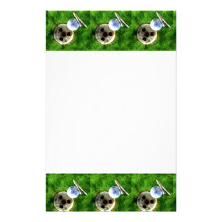 Play Golf Grunge Style Stationery Paper