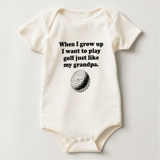 Play Golf Like My Grandpa Baby Bodysuit