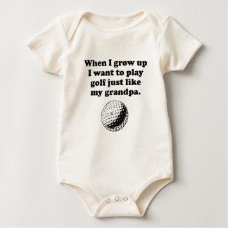 Play Golf Like My Grandpa Rompers