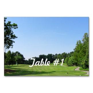 Play Golf Table Cards