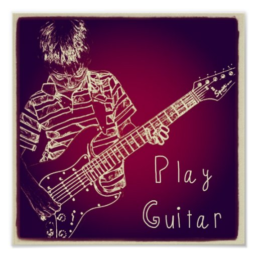 """Play Guitar"" Poster"
