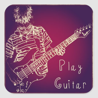 Play Guitar Stickers