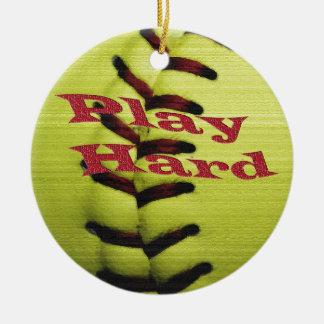 Play Har Softball Christmas Ornament