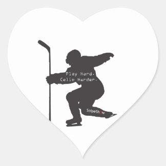 Play Hard Celie Harder Heart Stickers